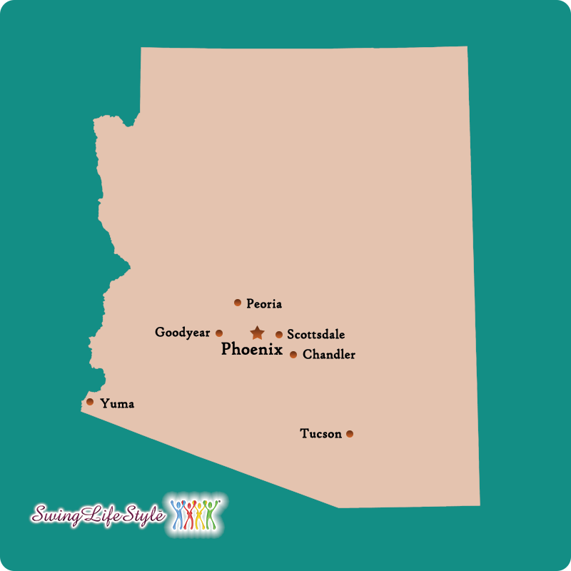 Arizona Swingers Clubs Map